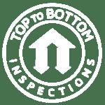 Top to Bottom Logo White